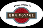 Voyage d'antan Étiquettes ovales - gabarit prédéfini. <br/>Utilisez notre logiciel Avery Design & Print Online pour personnaliser facilement la conception.