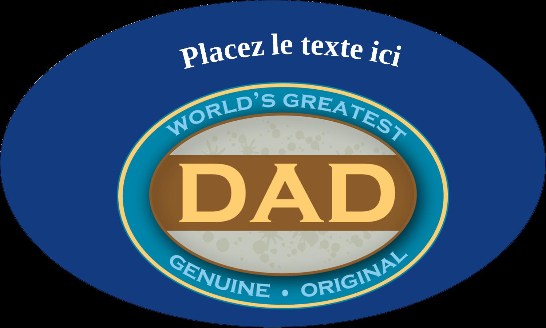 """1½"""" x 2½"""" Étiquettes ovales - Le meilleur papa"""