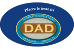 Le meilleur papa Étiquettes ovales - gabarit prédéfini. <br/>Utilisez notre logiciel Avery Design & Print Online pour personnaliser facilement la conception.