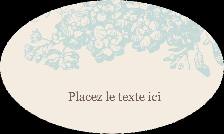 """1½"""" x 1½"""" Étiquettes carrées - Fleur bleue"""