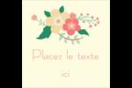 Couronne florale Étiquettes carrées - gabarit prédéfini. <br/>Utilisez notre logiciel Avery Design & Print Online pour personnaliser facilement la conception.