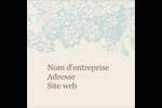 Fleur bleue Étiquettes carrées - gabarit prédéfini. <br/>Utilisez notre logiciel Avery Design & Print Online pour personnaliser facilement la conception.