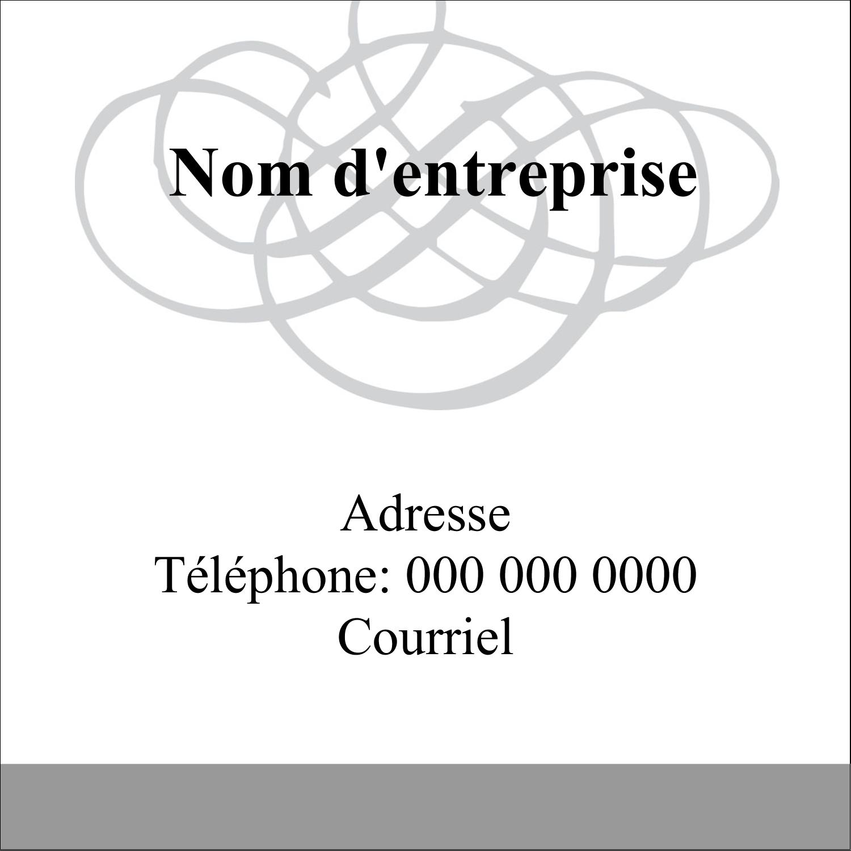 Monogramme de mariage Étiquettes carrées - gabarit prédéfini. <br/>Utilisez notre logiciel Avery Design & Print Online pour personnaliser facilement la conception.