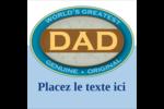 Le meilleur papa Étiquettes carrées - gabarit prédéfini. <br/>Utilisez notre logiciel Avery Design & Print Online pour personnaliser facilement la conception.
