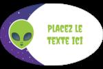 Fête d'extraterrestres Étiquettes ovales - gabarit prédéfini. <br/>Utilisez notre logiciel Avery Design & Print Online pour personnaliser facilement la conception.