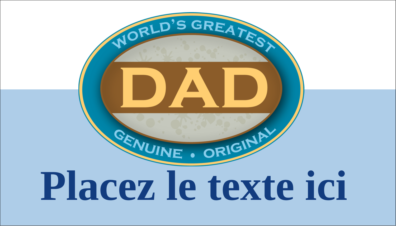 """2"""" x 3½"""" Carte d'affaire - Le meilleur papa"""