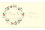 Couronne florale Carte d'affaire - gabarit prédéfini. <br/>Utilisez notre logiciel Avery Design & Print Online pour personnaliser facilement la conception.
