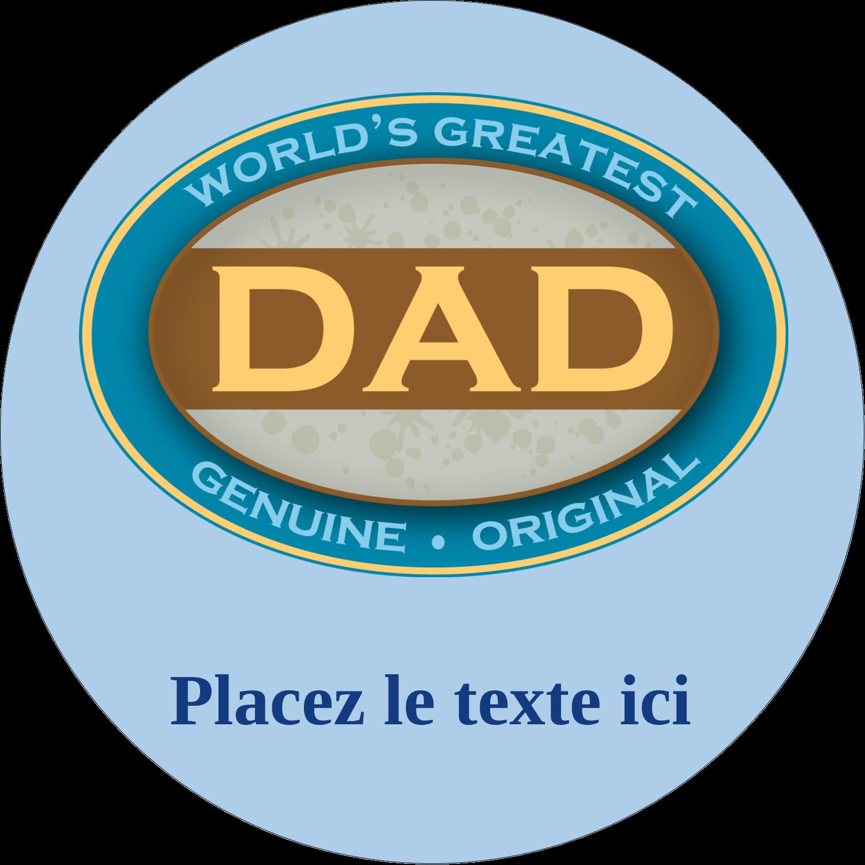 """2½"""" Diameter Étiquettes rondes - Le meilleur papa"""