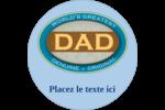 Le meilleur papa Étiquettes rondes - gabarit prédéfini. <br/>Utilisez notre logiciel Avery Design & Print Online pour personnaliser facilement la conception.