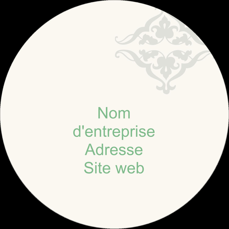 """2½"""" Diameter Étiquettes rondes - Manuscrit de mariage"""