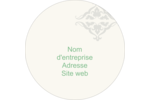 Manuscrit de mariage Étiquettes rondes - gabarit prédéfini. <br/>Utilisez notre logiciel Avery Design & Print Online pour personnaliser facilement la conception.