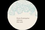 Fleur bleue Étiquettes rondes - gabarit prédéfini. <br/>Utilisez notre logiciel Avery Design & Print Online pour personnaliser facilement la conception.