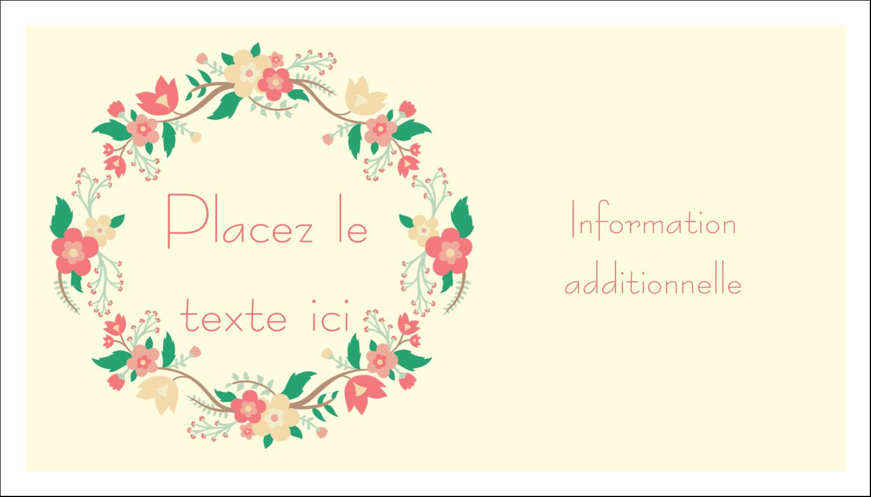 """3"""" x 5"""" Cartes Pour Le Bureau - Couronne florale"""