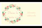 Couronne florale Cartes Pour Le Bureau - gabarit prédéfini. <br/>Utilisez notre logiciel Avery Design & Print Online pour personnaliser facilement la conception.
