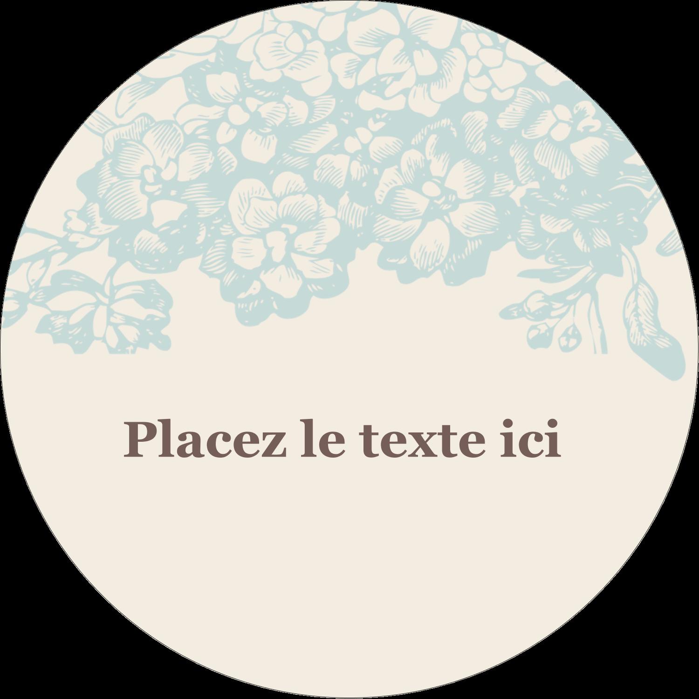 """3-7/16"""" x 15/16"""" Étiquettes de classement - Fleur bleue"""
