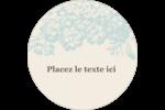Fleur bleue Étiquettes de classement - gabarit prédéfini. <br/>Utilisez notre logiciel Avery Design & Print Online pour personnaliser facilement la conception.