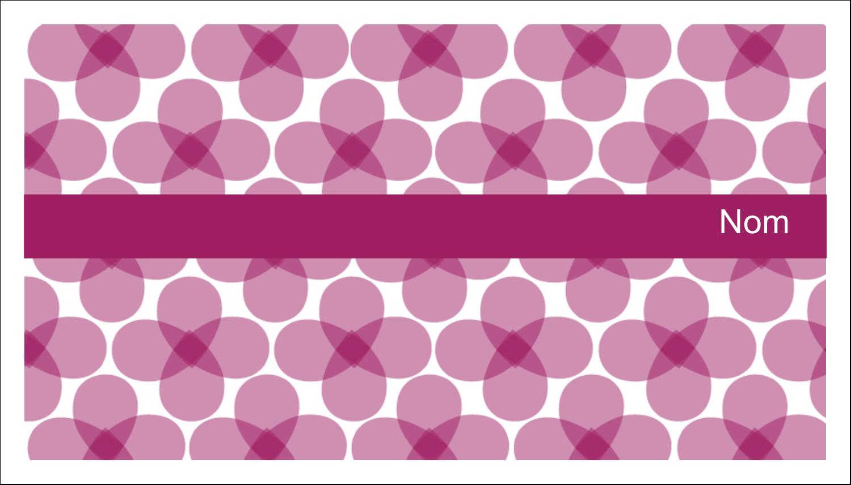 """3"""" x 5"""" Cartes Pour Le Bureau - Fleurs violettes"""