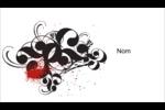 Fioritures dramatiques Cartes Pour Le Bureau - gabarit prédéfini. <br/>Utilisez notre logiciel Avery Design & Print Online pour personnaliser facilement la conception.