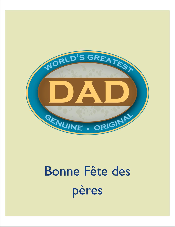 """4¼"""" x 5½"""" Carte de note - Le meilleur papa"""
