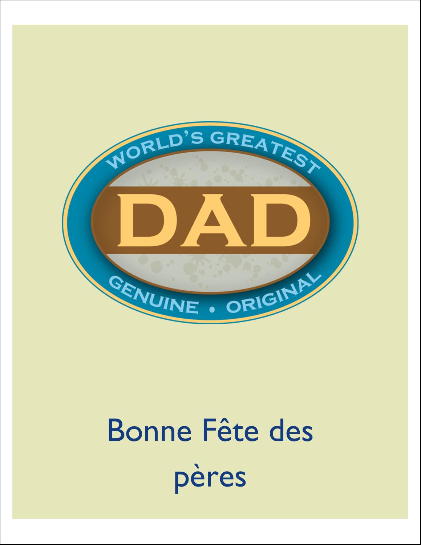 """5½"""" x 4-1/4"""" Carte de voeux - Le meilleur papa"""