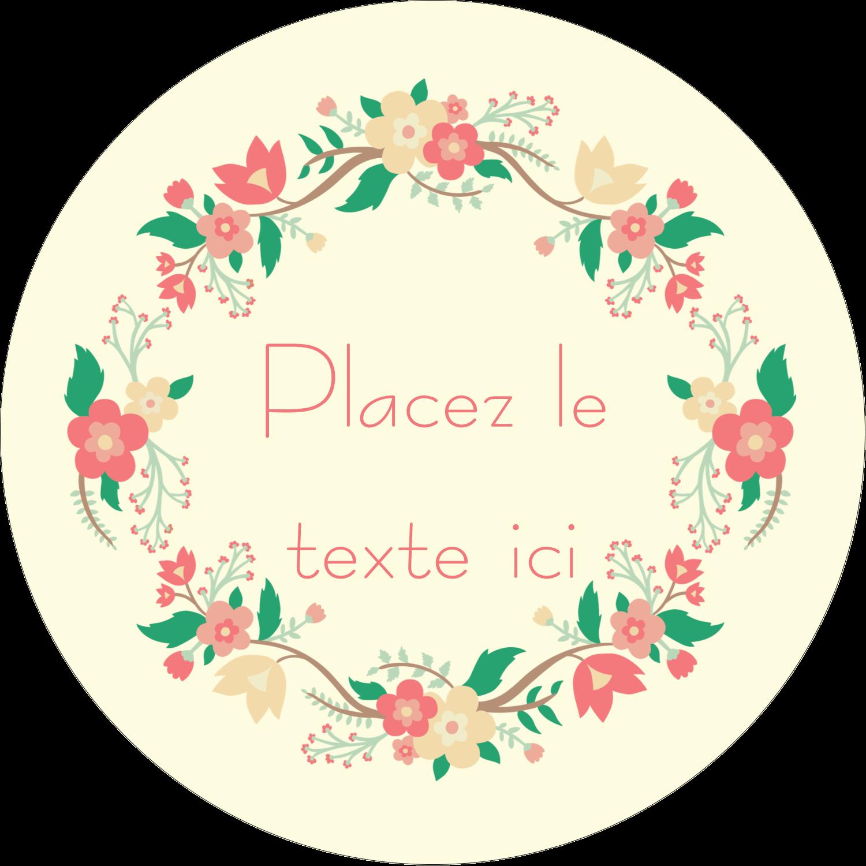"""2¼"""" x ¾"""" Étiquettes Voyantes - Couronne florale"""