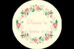 Couronne florale Étiquettes Voyantes - gabarit prédéfini. <br/>Utilisez notre logiciel Avery Design & Print Online pour personnaliser facilement la conception.
