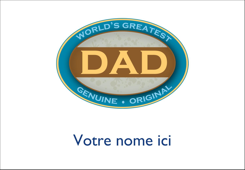 """2-11/12"""" x 3⅜"""" Étiquettes badges autocollants - Le meilleur papa"""