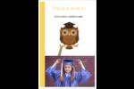 Hibou et diplôme Reliures - gabarit prédéfini. <br/>Utilisez notre logiciel Avery Design & Print Online pour personnaliser facilement la conception.