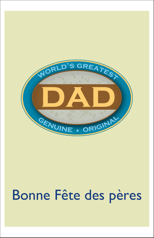 """8½"""" x 5"""" Cartes Et Articles D'Artisanat Imprimables - Le meilleur papa"""