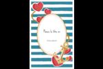 Ancre de Saint-Valentin  Cartes Et Articles D'Artisanat Imprimables - gabarit prédéfini. <br/>Utilisez notre logiciel Avery Design & Print Online pour personnaliser facilement la conception.