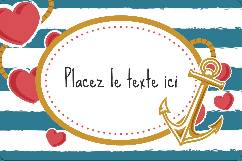"""2"""" x 3"""" Étiquettes rectangulaires - Ancre de Saint-Valentin"""
