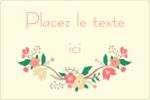 Couronne florale Étiquettes rectangulaires - gabarit prédéfini. <br/>Utilisez notre logiciel Avery Design & Print Online pour personnaliser facilement la conception.