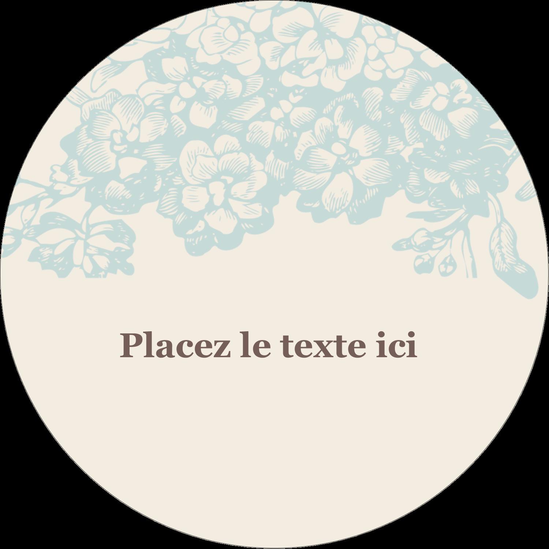 """4¾"""" x 3½"""" Étiquettes arrondies - Fleur bleue"""