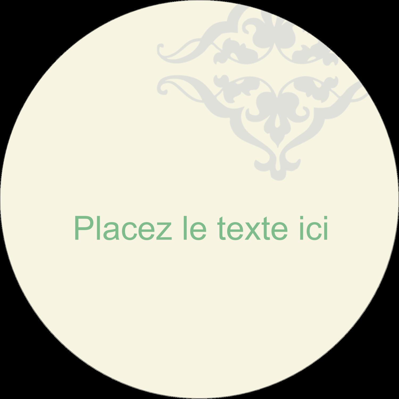 """4¾"""" x 3½"""" Étiquettes arrondies - Manuscrit de mariage"""