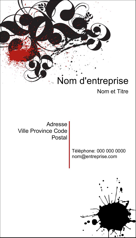 "2"" x 3½"" Carte d'affaire - Fioritures dramatiques"