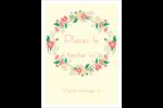 Couronne florale Étiquettes rondes - gabarit prédéfini. <br/>Utilisez notre logiciel Avery Design & Print Online pour personnaliser facilement la conception.