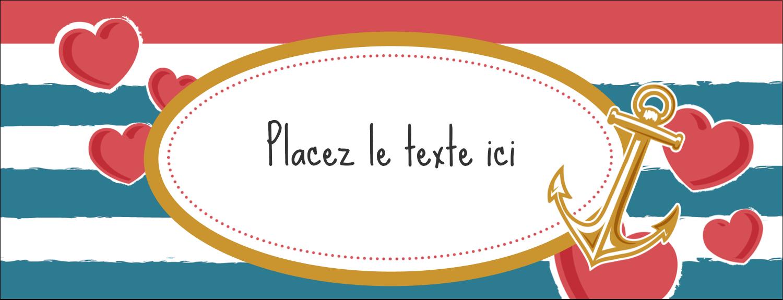 """1-7/16"""" x 3¾"""" Affichette - Ancre de Saint-Valentin"""