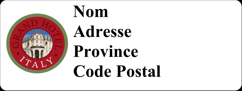 """⅔"""" x 1¾"""" Étiquettes D'Adresse - Voyage d'antan"""