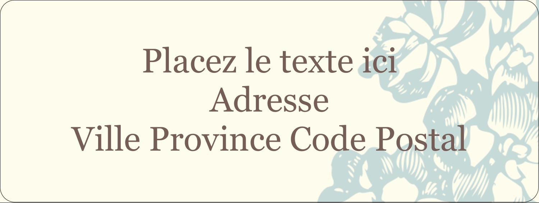 """⅔"""" x 1¾"""" Étiquettes D'Adresse - Fleur bleue"""
