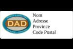 Le meilleur papa Étiquettes D'Adresse - gabarit prédéfini. <br/>Utilisez notre logiciel Avery Design & Print Online pour personnaliser facilement la conception.