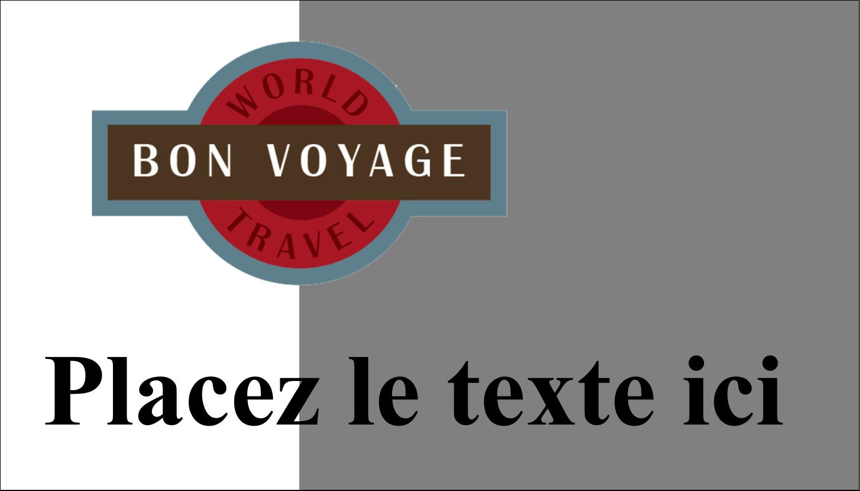 """2"""" x 3½"""" Carte d'affaire - Voyage d'antan"""
