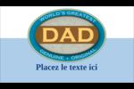 Le meilleur papa Carte d'affaire - gabarit prédéfini. <br/>Utilisez notre logiciel Avery Design & Print Online pour personnaliser facilement la conception.