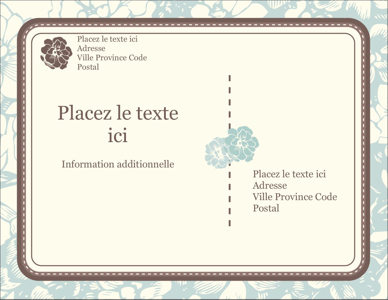 """4¼"""" X 5½"""" Carte Postale - Fleur bleue"""