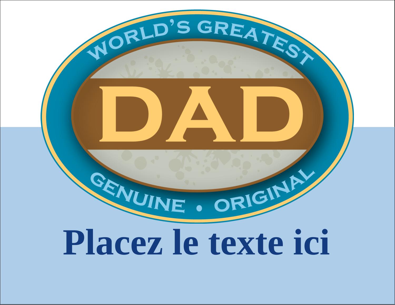 """5½"""" x 4¼"""" Carte Postale - Le meilleur papa"""