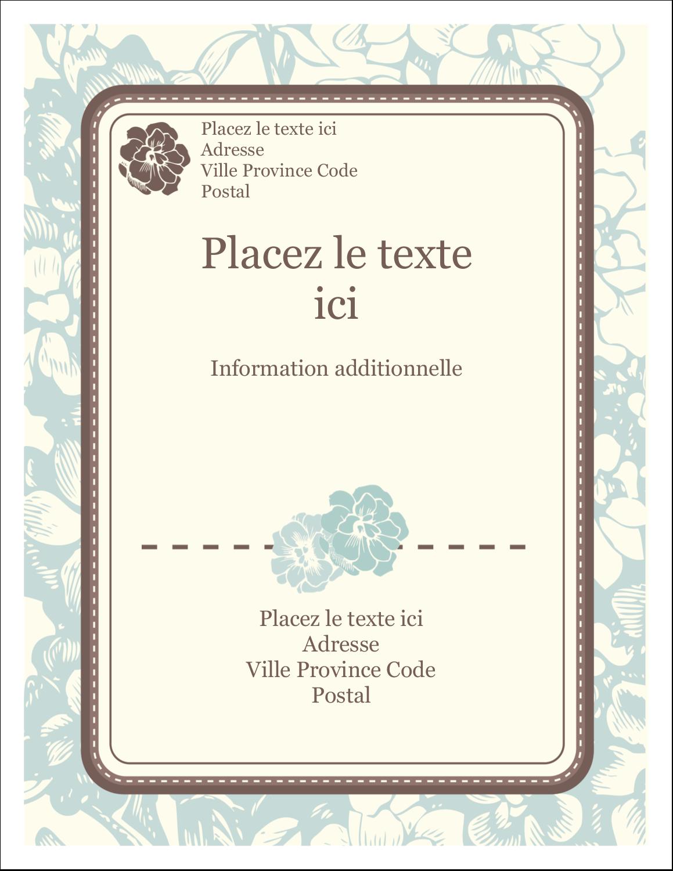 """5½"""" x 4¼"""" Carte Postale - Fleur bleue"""
