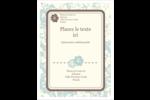 Fleur bleue Carte Postale - gabarit prédéfini. <br/>Utilisez notre logiciel Avery Design & Print Online pour personnaliser facilement la conception.