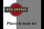 Voyage d'antan Carte Postale - gabarit prédéfini. <br/>Utilisez notre logiciel Avery Design & Print Online pour personnaliser facilement la conception.