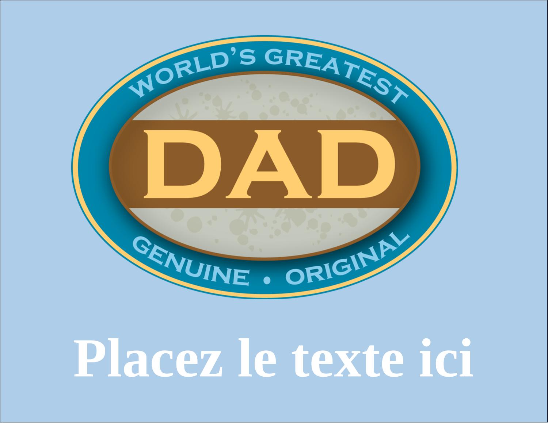 """4¼"""" X 5½"""" Carte Postale - Le meilleur papa"""