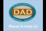 Le meilleur papa Carte Postale - gabarit prédéfini. <br/>Utilisez notre logiciel Avery Design & Print Online pour personnaliser facilement la conception.
