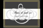 Monogramme de mariage Carte Postale - gabarit prédéfini. <br/>Utilisez notre logiciel Avery Design & Print Online pour personnaliser facilement la conception.